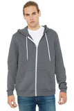 Bella Canvas Full Zip Hoodie Storm Custom Embroidered BC3739