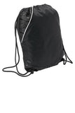 Sport Tek Rival Cinch Pack Black Custom Embroidered BST600