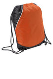 Sport Tek Rival Cinch Pack Deep Orange Custom Embroidered BST600