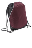 Sport Tek Rival Cinch Pack Maroon Custom Embroidered BST600