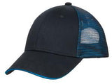 Black/Blue Custom Embroidered Hat Port Authority C818