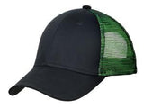 Black/Green Custom Embroidered Hat Port Authority C818