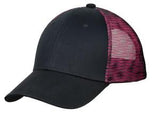 Black/Pink Custom Embroidered Hat Port Authority C818