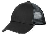 Black/Silver Custom Embroidered Hat Port Authority C818