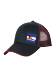 Black/Red Custom Embroidered Hat Port Authority C818