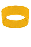 Athletic Gold Embroidered Stretch Fleece Headband c910