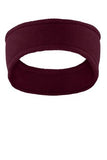 Maroon Custom Embroidered Stretch Fleece Headband