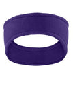 Port Authority Purple Fleece Custom Logo Headband