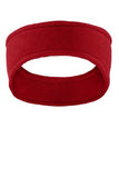 Red Port Authority Fleece Custom Embroidered Headband