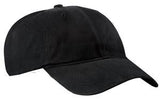 Port Company Twill Hat Black Custom Embroidered CP77