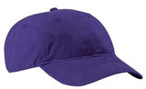 Port Company Twill Hat Purple Custom Embroidered CP77