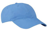 Port Company Twill Hat Carolina BLue Custom Embroidered CP77