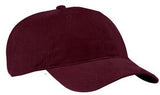 Port Company Twill Hat Maroon Custom Embroidered CP77