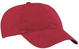 Port Company Twill Hat Red Custom Embroidered CP77