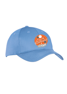 Port Company Twill Hat Carolina Blue Custom Embroidered CP80