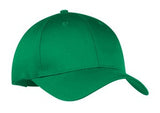 Port Company Twill Hat Kelly Green Custom Embroidered CP80