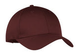 Port Company Twill Hat Maroon Custom Embroidered CP80