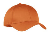 Port Company Twill Hat Orange Custom Embroidered CP80