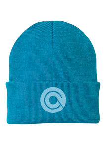 Port Company Beanie Custom Embroidered CP90 Neon Blue