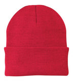 Port Company Beanie Custom Embroidered CP90 Red