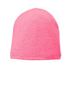 Port Company Fleece Lined Beanie Custom Embroidered CP91L Pink