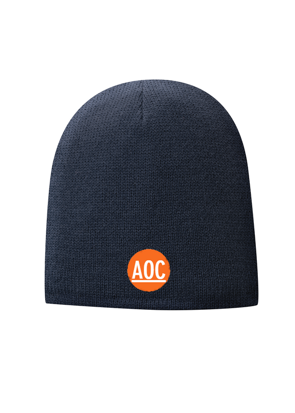 Port Company Fleece Lined Beanie Custom Embroidered CP91LNavy