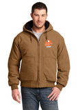 Mountain Goat - CornerStone® Washed Duck Cloth Insulated Hooded Work Custom Logo Jacket (CSJ41)