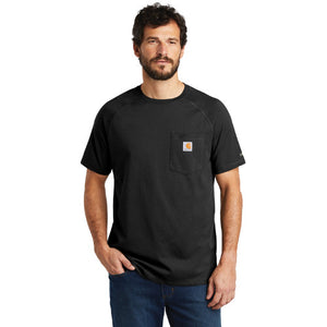 Carharrt Cotton T shirt Custom Embroidered CT100410 Black