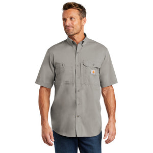 Teton Range Carhartt Force Solid Short Sleeve Shirt Custom Embroidered CT102417 asphalt