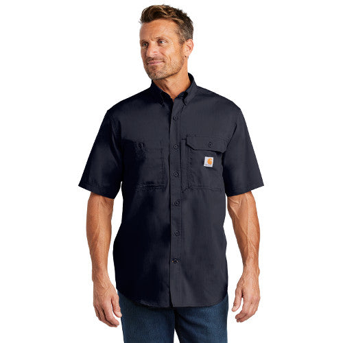 e6a2335e ... Teton Range Carhartt Force Solid Short Sleeve Shirt Custom Embroidered  CT102417 Navy