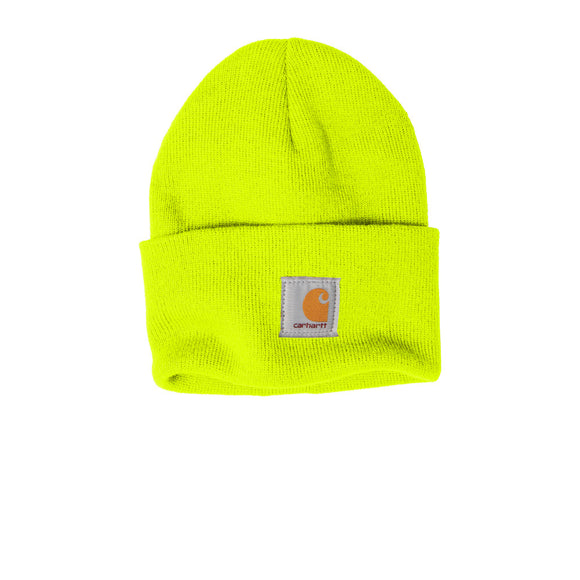 Andes Carharrt Acrylic Watch Beanie Custom Embroidered CTA18 Bright lime