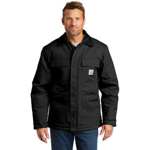 Zagros Mtns Carhartt Duck Traditional Coat Custom Embroidered CTC003 Black