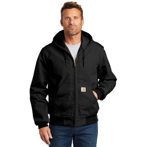 Sawatch Range Carhartt Thermal Lined Duck Active Jacket Custom Embroidered CTJ131 Black
