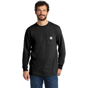 Cascade Range Carhartt Workwear Pocket Long Sleeve Custom Embroidered CTK126 Black