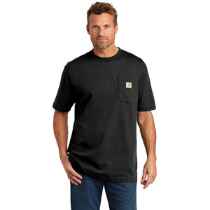 Mt Kenya Carhartt Tall Workwear Pocket Short Sleeve T Shirt Custom Embroidered CTTK87 Bluestone