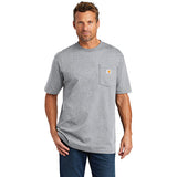 Mt Kenya Carhartt Tall Workwear Pocket Short Sleeve T Shirt Custom Embroidered CTTK87 Heather Grey