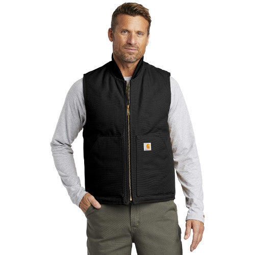 Bitterroot Range Carhartt Duck Vest Custom Embroidered CTV01 Black