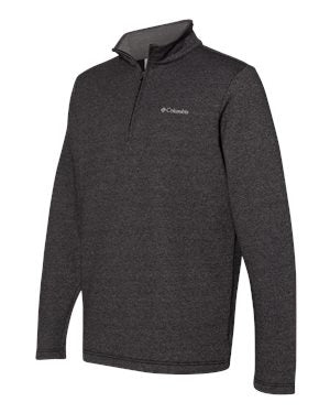 Columbia Great Hart Mountain III Half Zip Fleece Custom Embroidered 162523 Black Heather