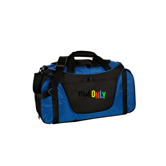 Port Company Two-Tone Medium Duffle Royal black Custom Embroidered BG1050