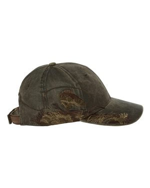 Dri DUCK Walleye Cap Custom Embroidered 3269 Brown Waxy Canvas