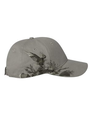 Dri DUCK Eagle Cap Custom Embroidered 3297 Dark Stone