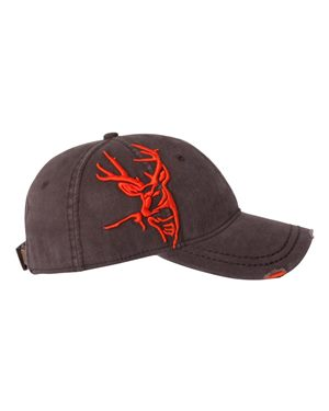 Dri DUCK 3D Buck Cap Custom Embroidered 3307 Bark Orange