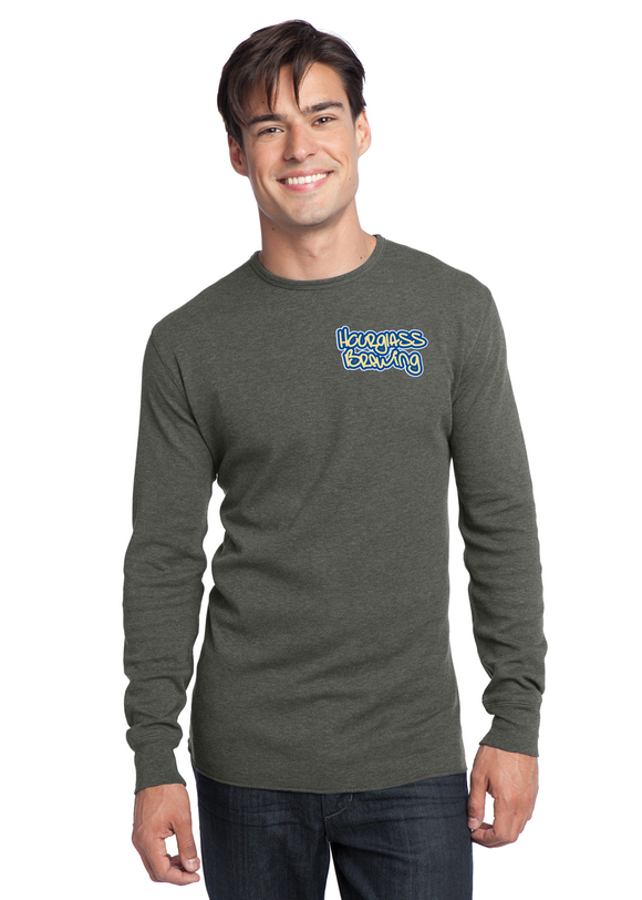 District Long Sleeve Thermal Deep heather Custom Embroidered DT118