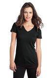 District  Ladies V neck Black Custom Embroidered DT5501