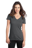 District  Ladies V neck Grey Custom Embroidered DT5501