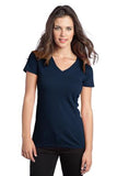 District  Ladies V neck Navy Custom Embroidered DT5501