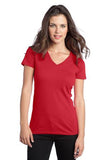 District  Ladies V neck Red Custom Embroidered DT5501