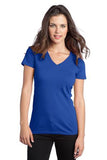 District  Ladies V neck Royal Custom Embroidered DT5501