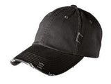 District Twill Hat Black Custom Embroidered DT600