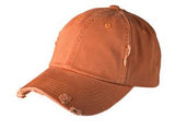 District Twill Hat Orange Custom Embroidered DT600